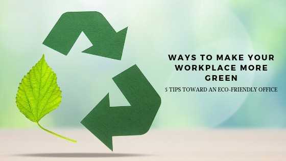 Ways To Make Your Workplace More Green